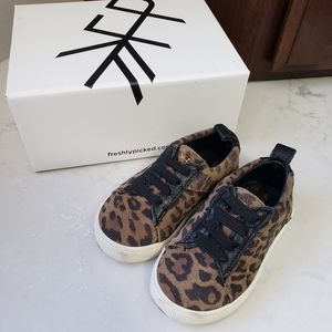 Freshly Picked leopard suede lace-up sneaker